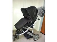 Mamas and Papas travel system - pushchair, travel cot, car seat, including raincover and footmuff