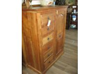 STURDY SOLID ALL PINE CABINET WITH 6 DRAWERS. VERSATILE LOCATION USAGE