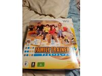 family trainer wii game with mat