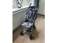 Silver Cross Pop Buggy Pushchair Stroller Black and Grey