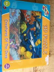 3D puzzle creatures of the deep 100 pieces