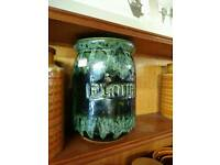 Vintage fashion flour and spaghetti storage jars