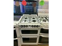 STOVES 60CM GAS DOUBLE OVEN COOKER IN WHITE