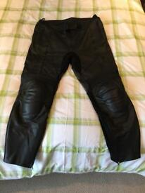 Frank Thomas leather motorcycle trousers.