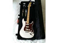 2013 Fender American Deluxe Stratocaster with Ash body and White Blonde finish