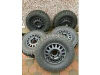 """16"""" Silverline blindo alloy wheels for Land Rover defender with 265/75/16 STT Pro tyres"""