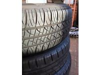 Steel Wheels with 175/65 Tyres - 15 inch (originally from a fiat punto) GOOD TREAD!