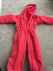 Waterproof fleece lined splash suit / all in one Age 5/6