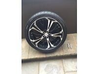 """Ghost 18"""" wheels with low profile tyres"""