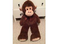 Large plush soft toy monkey
