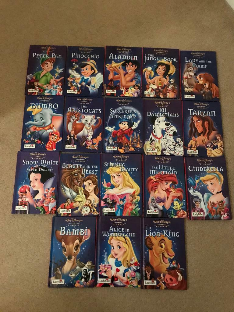Walt Disney Ladybird Books Set Of 18 Classic Collection