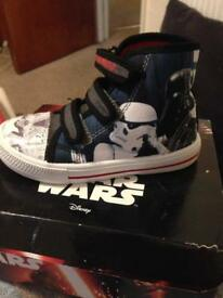 Boys paw patrol trainers and Star Wars high tops