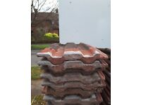 150 Used Red Redland 49 roof tiles