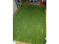 Hampen bright green rug, high pile