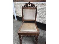 A Pr of Dutch carved hall chairs, used for sale  Nottinghamshire