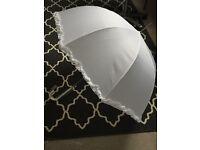 White wedding umbrellas for sale