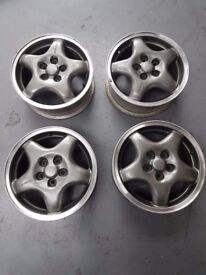 "Subaru impreza alloy wheels 15"" mk1 classic alloys x4"