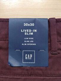 NEW!! GAP LIVED-IN SLIM - 30x30 - 2 items