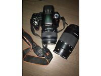 Sony A55 Camera Body + 2 Lenses (18-55mm and 75-300mm)