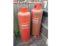 2 X EMPTY 47kg PROPANE GAS CYLINDERS