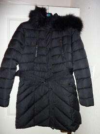 2cabfd12ac1 Ladies Atmosphere Primark Puffa padded Coat Black fits size 16   18 New  Without Tags