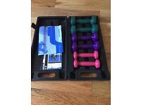 Women's reebok weights in case