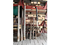 Tools Fence Post Sledge Hammer Pick Axe Selection