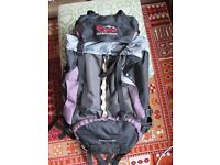 80L Adventure Hiking Travelling backpack rucksach Eye Mountaineering excellent condition