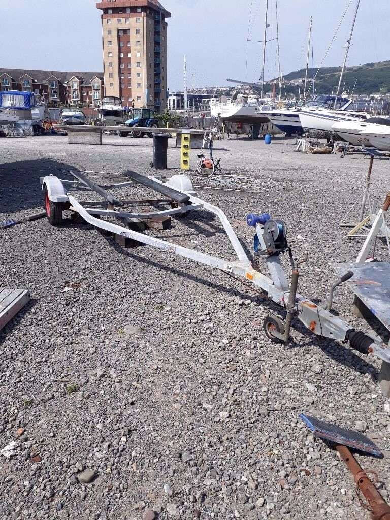 Single axle braked boat trailer suitable for boats up to 19 feetin SwanseaGumtree - Nicolston braked trailer, good condition brakes and bearings sound, some surface rust as expected £500 cash for quick sale as no longer needed for boat(No offers) can be viewed in swansea marina boat yard
