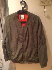 Gap men's bomber jacket green size XL