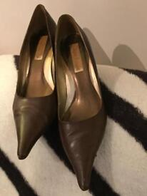 Italian leather pointy shoes Gianni Fermani