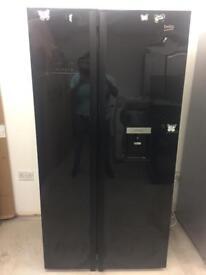 BEKO black good looking frost free A-class American style fridge freezer