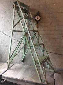 original untouched hatheley lattice wooden step ladders £50