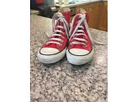 Red converses size uk 6