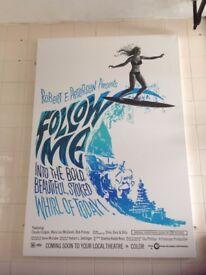 Large Canvas Print Robert E Peterson Surf Movie