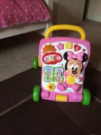 Minnie Mouse push along Walker