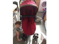 Mothercare Orb pram (red)