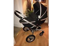 Silver Cross Surf 2 Pram , with all attachments and spare brand new baby shell.
