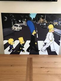 Large simpsons canvas