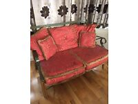 TWO SEATER SOFA IDEAL CONSERVATORY EXCELLENT CONDITION