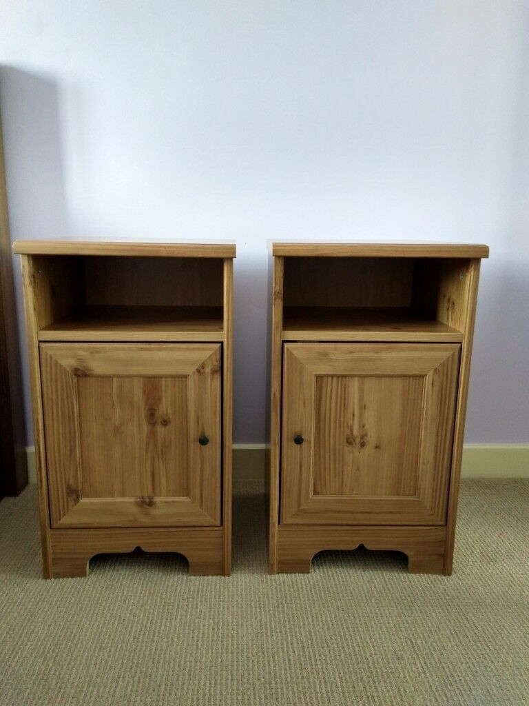 Two stylish bedside tables cabinets nightstands in enfield two stylish bedside tables cabinets nightstands watchthetrailerfo