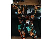 One Industries Carbon Twisted Orange MX Suit New with tags