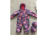 Girls joules snow suit