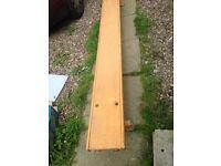 Vintage wooden low benches ex schoolchildren