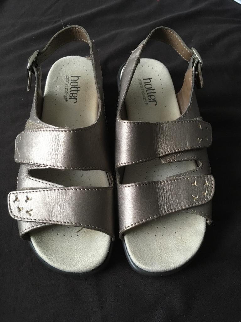 Hotter metallic gold sandals