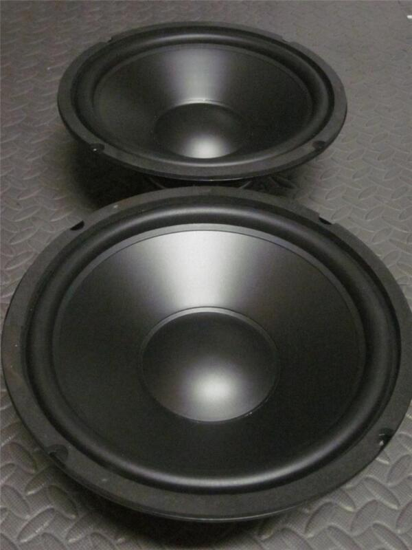 "(2) 10"" Speaker Woofers.Ten Inch Subwoofer Replacement. Pair.8 Ohm.Bass Drivers"