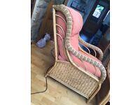 Conservatory 3 piece suite (2 seat sofa) - Cane construction