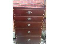 Beautiful retro dark wood drawers