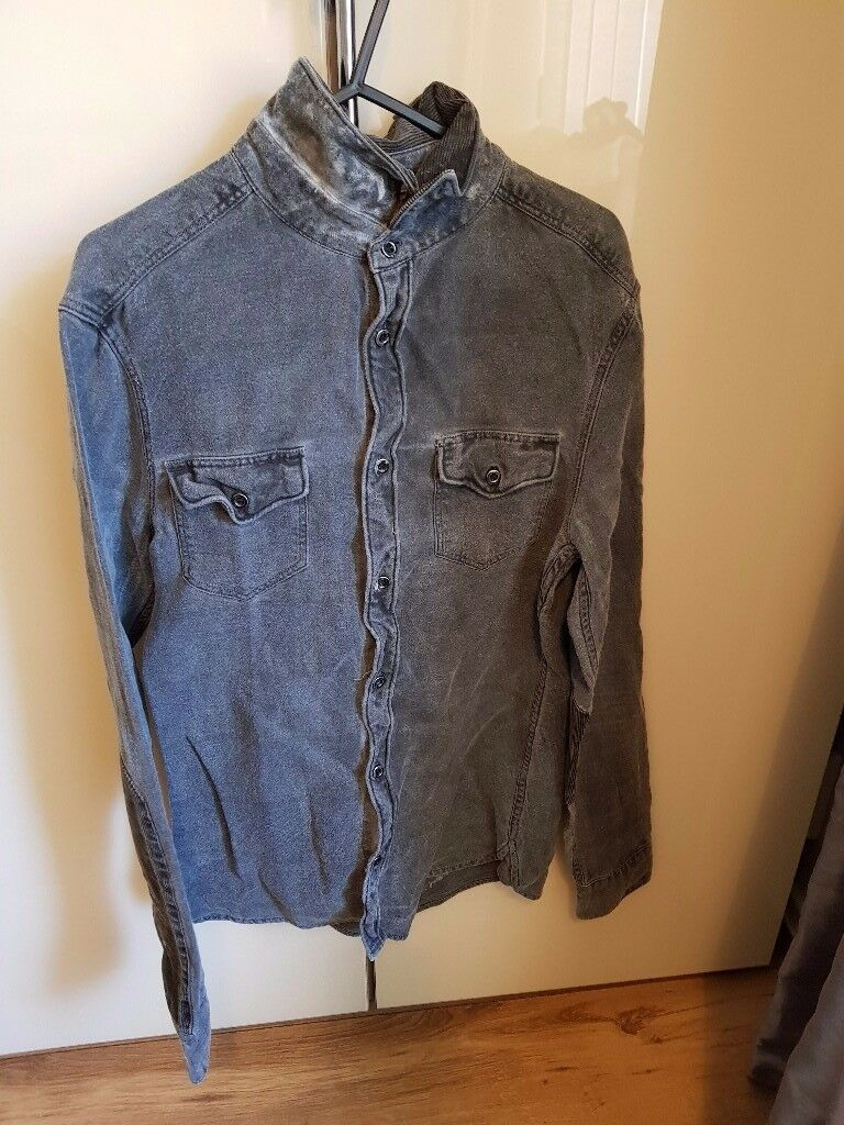 All Saints Mens Denim Shirt
