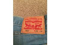 Men's Levi 501 faded blue jeans